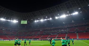 Borussia Mönchengladbach wird auch das Rückspiel gegen Manchester City in Budapest bestreiten. Foto: Marton Monus/dpa