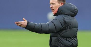 Leipzigs Trainer Julian Nagelsmann war mit der Chancenauswertung seiner Mannschaft nicht zufrieden. Foto: Jan Woitas/dpa-Zentralbild/dpa
