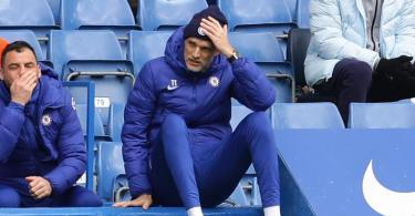 Thomas Tuchel, Trainer von FC Chelsea, fasst sich während des Spiels an den Kopf. Foto: David Klein/CSM via ZUMA Wire/dpa