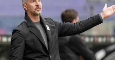 Frankfurts Trainer Adi Hütter könnte zu Borussia Mönchengladbach wechseln. Foto: Thomas Frey/dpa