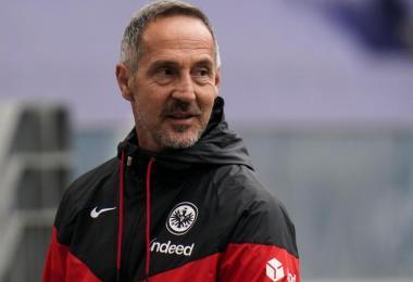 Wechselt von Eintracht Frankfurt zu Borussia Mönchengladbach: Trainer Adi Hütter. Foto: Thomas Frey/dpa