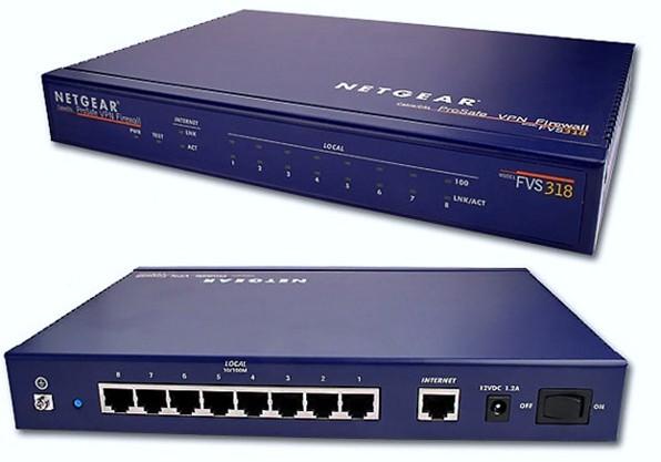Um firewall Netgear modelo FVS318