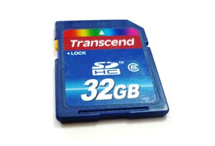 Cartão SDHC de 32 GB