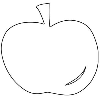 Apfel Malvorlage - Ausmalbild Apfel zum Ausdrucken und
