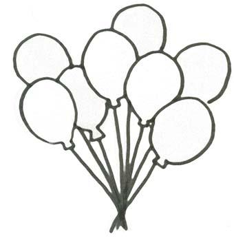 Malvorlage Ballons - Geburtstag Ausmalbild fr Kinder