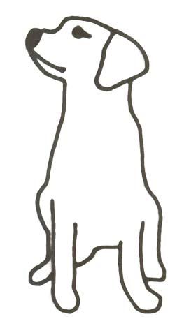 Ausmalbild Hund - Hundebild zum Ausmalen