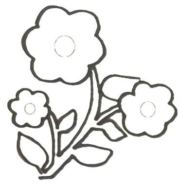 Blhende Blumen Malvorlage - Ausmalbild fr Kinder