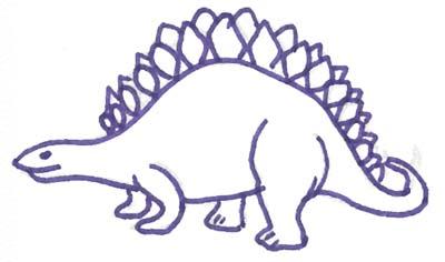 Dinosaurier Malvorlage - kostenlose Dino Vorlage