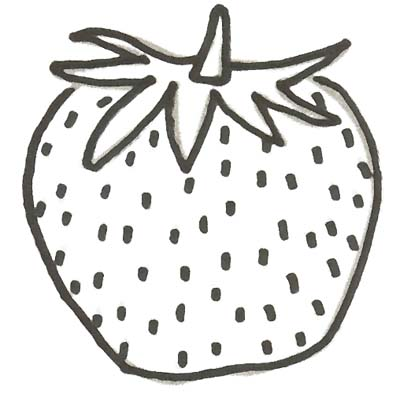 Erdbeeren Malvorlage - Ausmalbild Erdbeere