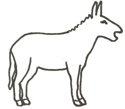 Esel Malvorlage Ausmalbild - Esel zum Ausmalen