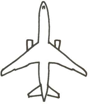 Flugzeug Malvorlage - Jet Ausmalbild kostenlos