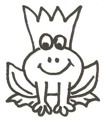 Frosch mit Krone Malvorlage - Mrchen Frosch