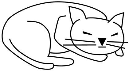 Malvorlage Schlafende Katze Batavusprorace