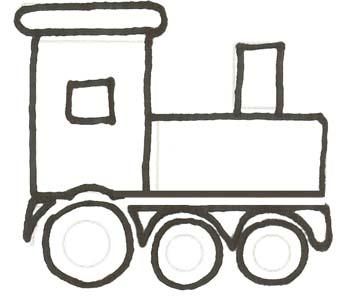 Lokomotive Malvorlage - einfache Eisenbahn zum Ausmalen