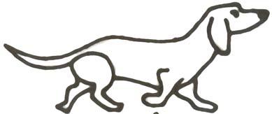 Malvorlage Dackel - kleiner Hund Ausmalbild