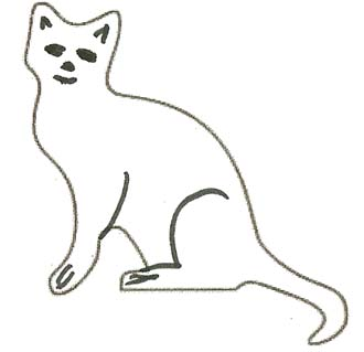 Malvorlage Katze - Katzenmalvorlage