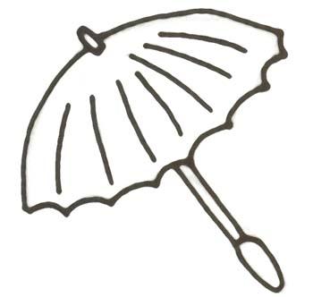 Regenschirm Malvorlage - Ausmalbild Schirm