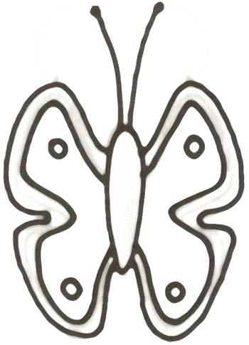 Malvorlage Schmetterling - Schmetterling Ausmalbild