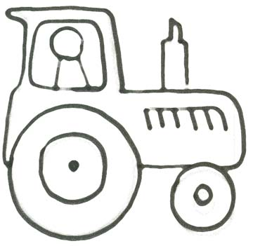 Malvorlage Traktor - Trecker Ausmalbild
