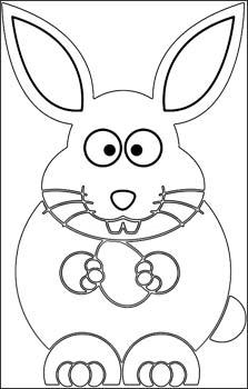 Osterhase Malvorlage - Hase Ausmalbild zu Ostern