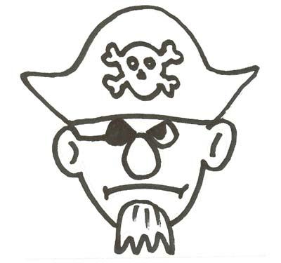 Piraten Malvorlage- Ausmalbild Piraten Kapitn