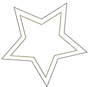 Sternvorlage zum Malen und Zeichnen