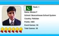 Pakistani Student Wins World Mathematics Competition