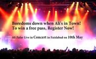 Jazz to Organize Ali Zafar Concert in Faisalabad