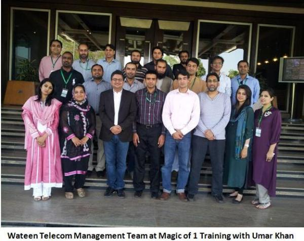 Wateen Telecom Management Team at Magic of 1 Training with Umar Khan