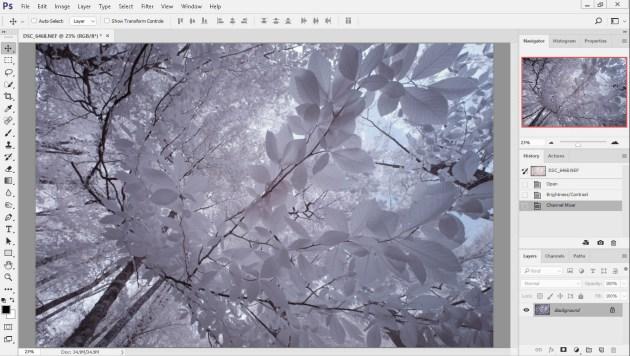 Adobe Photoshop Kırmızı ve mavi renk kanallarının ter çevrim işlemi