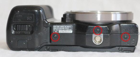 Sony Nex 5 Bottom