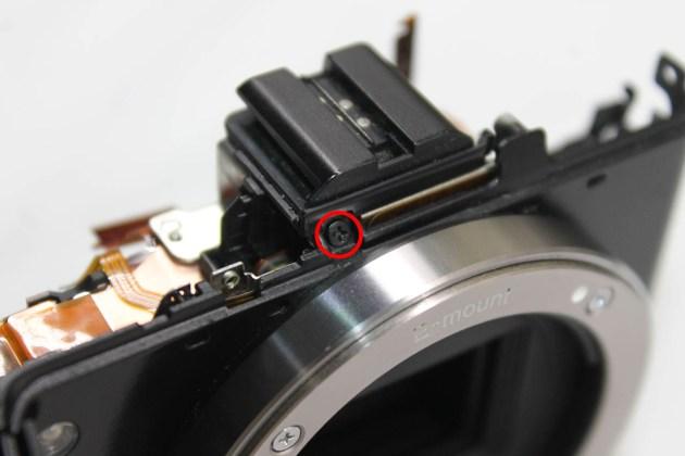 sony Nex-7 repairing flash shoe connection