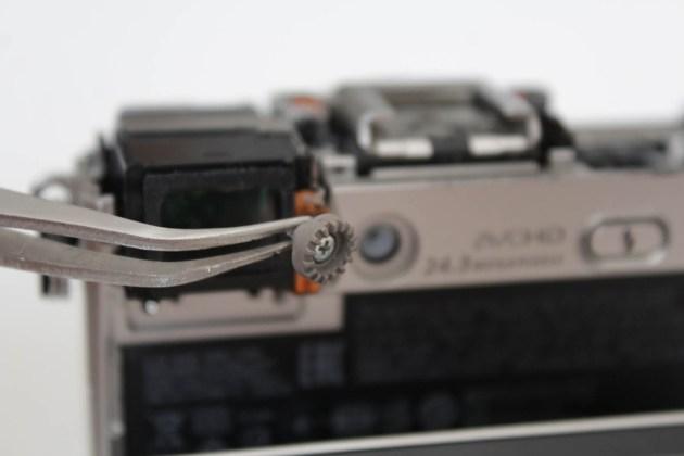viewfinder diopter adjustment dial replacing