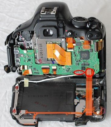canon 600d mainboard