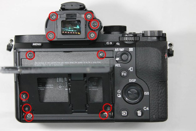 a7-ii back case replacement remove