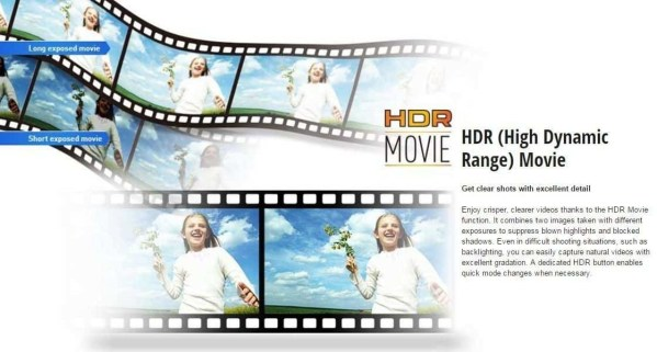 HDR camcorder