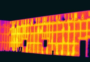 Infrared inspection covers 100% of the wall, no more drilling holes to find empty cells - Infrared Imaging Services LLC