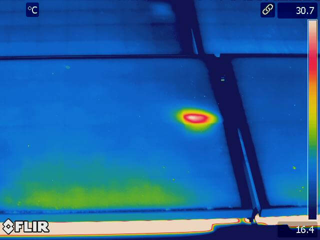 Hot converter box in Solar panel 1 - Solar Panel Infrared