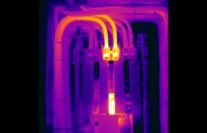 Loose connections cause overheated wires connections and buss bar - Infrared Imaging Services LLC
