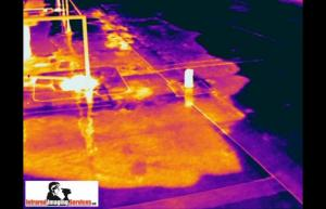 IRINFO 2010 Infrared Image contest winner - Trapped moisture in an EPDM Roof - Infrared Imaging Services LLC
