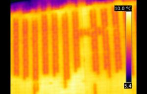 Infrared wall grout inspection - Infrared Imaging Services LLC