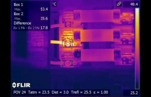 Infrared inspection detects hot connection to fuse terminal - Infrared Imaging Services LLC