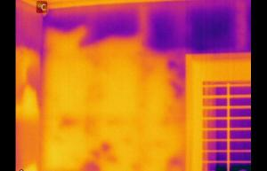 Insulation has settled within wall - Infrared Imaging Services LLC