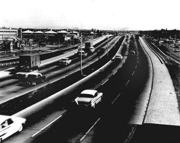 A completed interstate (I-495) on Long Island, New York, in the late 1950s. (30-N-60-101)