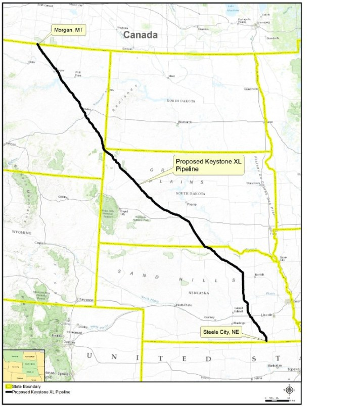 Figure ES-1 Proposed Keystone XL Project Route