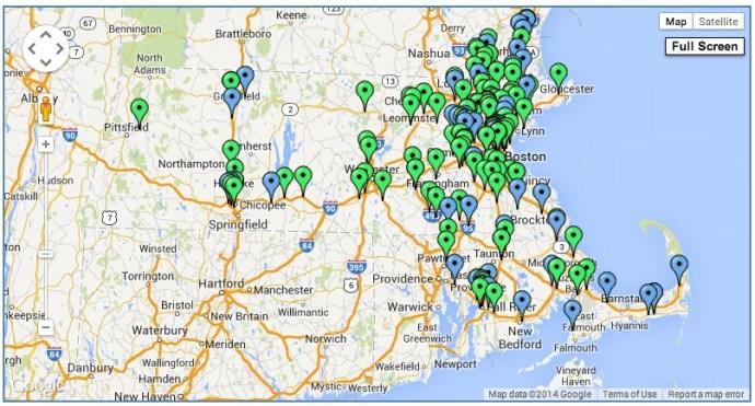 massDOT Roadwork map
