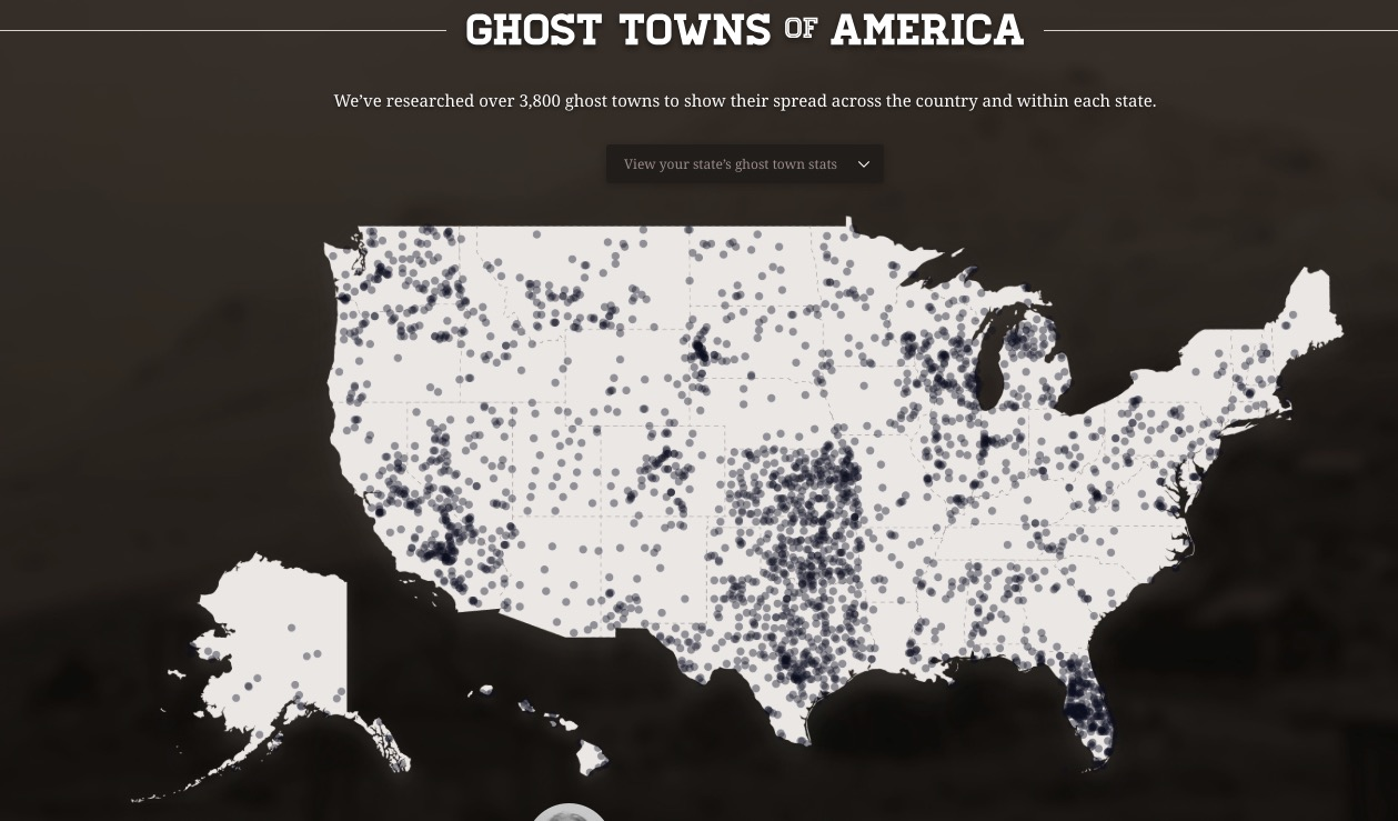 Spooky Infrastructure: Ghost Towns Across the United States