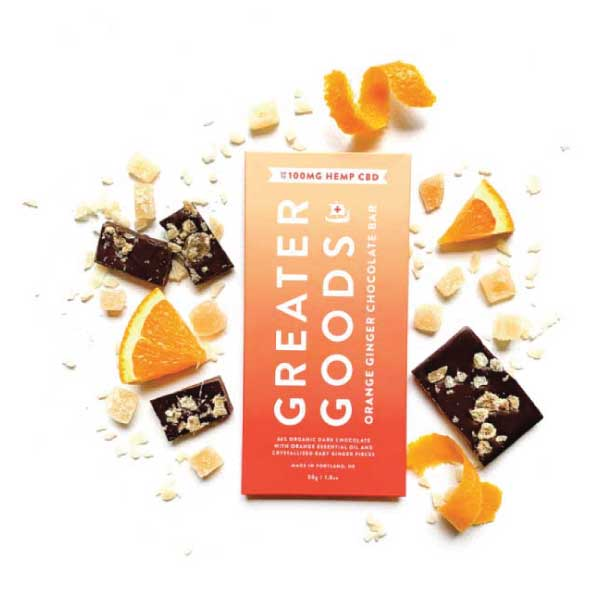 Orange Ginger CBD Chocolate Bar | Greater Goods