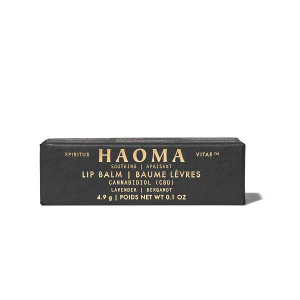 haoma cbd lip balm lavender bergamot organic all natural skin care body care