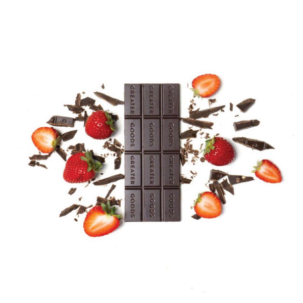 Strawberry CBD Chocolate Bar Greater Goods Anxiety Stress Sleep Focus